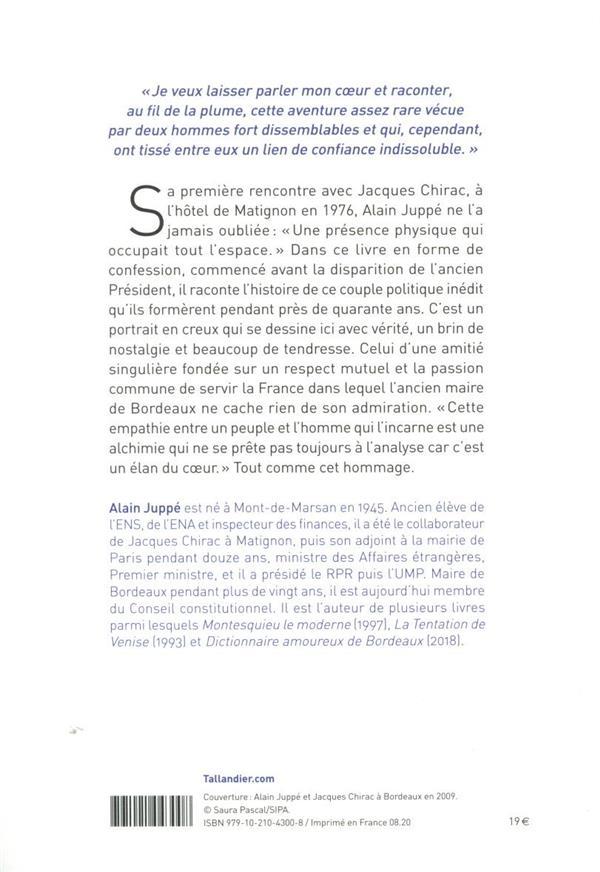 mon Chirac ; une amitié singulière