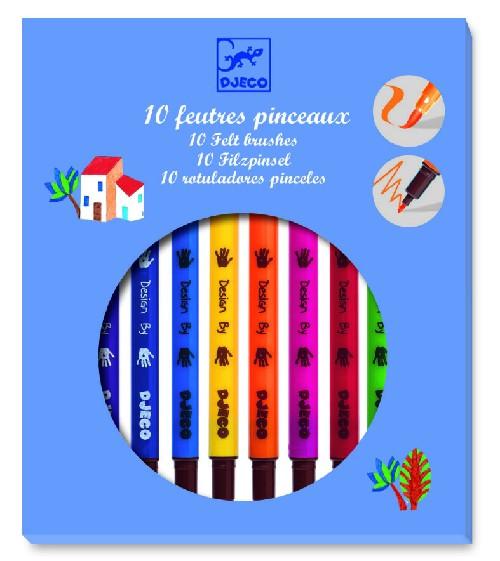 FEUTRES PINCEAUX CLASSIQUE /10