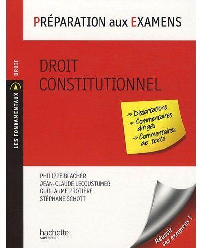 Préparation aux examens ; droit constitutionnel