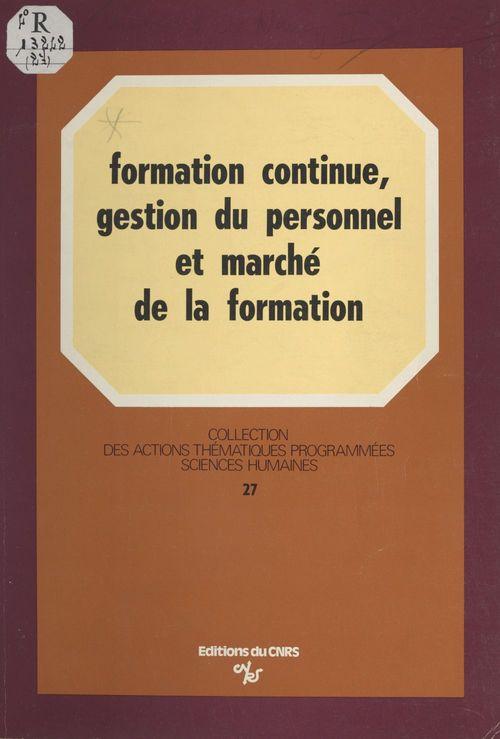 Formation continue, gestion du personnel et marché de la formation : une étude régionale du système français de formation continue