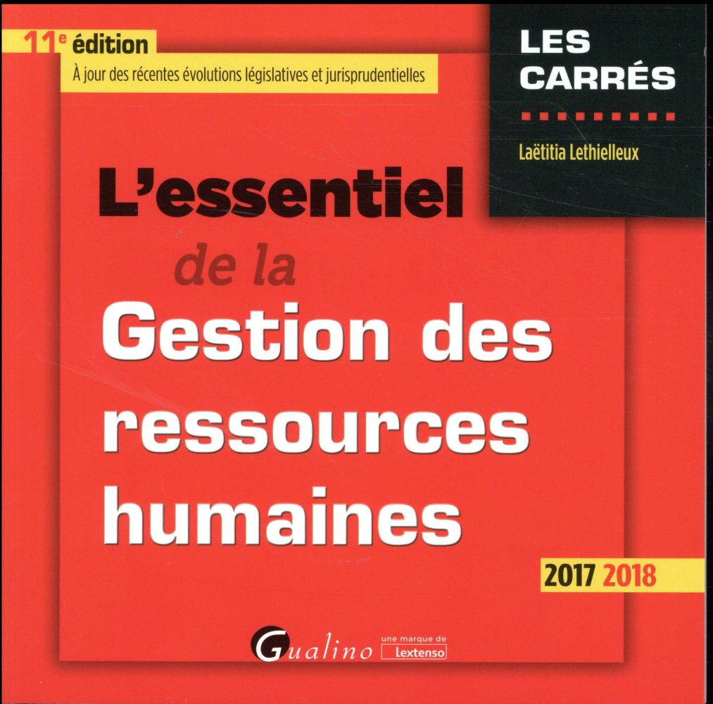 L'essentiel de la gestion des ressources humaines (édition 2017/2018)