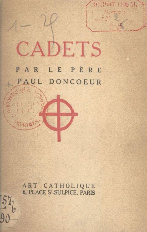 Cadets  - Paul Doncoeur