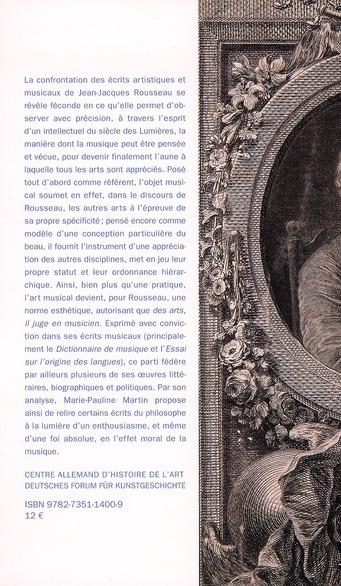 juger des arts en musicien ; un aspect de la pensée artistique de Jean-Jacques Rousseau