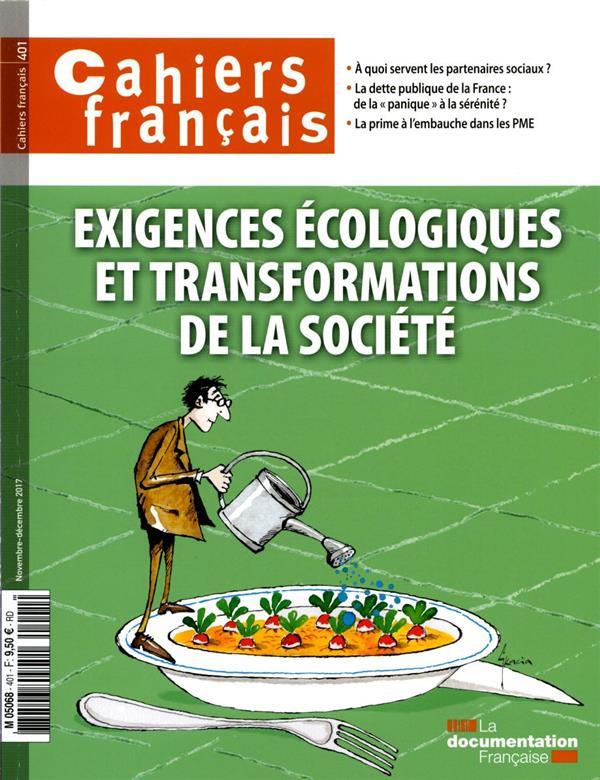 Exigence écologique et transformations de la société