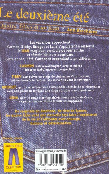 Quatre filles et un jean t.2 ; le deuxième été