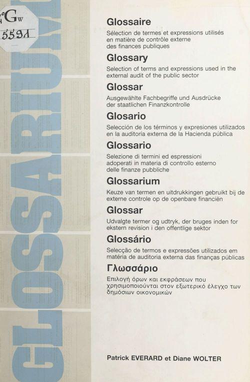 Glossarium : sélection de termes et expressions utilisés en matière de contrôle externe des finances publiques