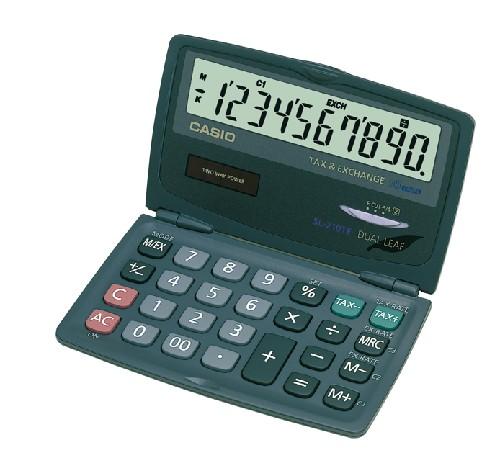 CALCULATRICE DE POCHE FINANCIERE EURO 10 CHIFFRES SL210TE