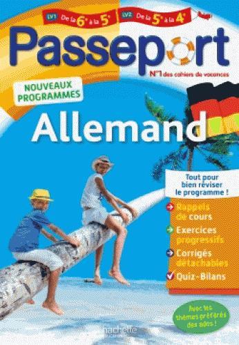 Passeport ; allemand ; de la 6e à la 5e ou de la 5e à la 4e