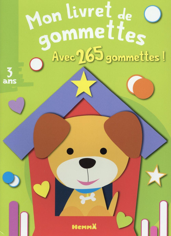 Mon livret de gommettes ; chien ; 3 ans