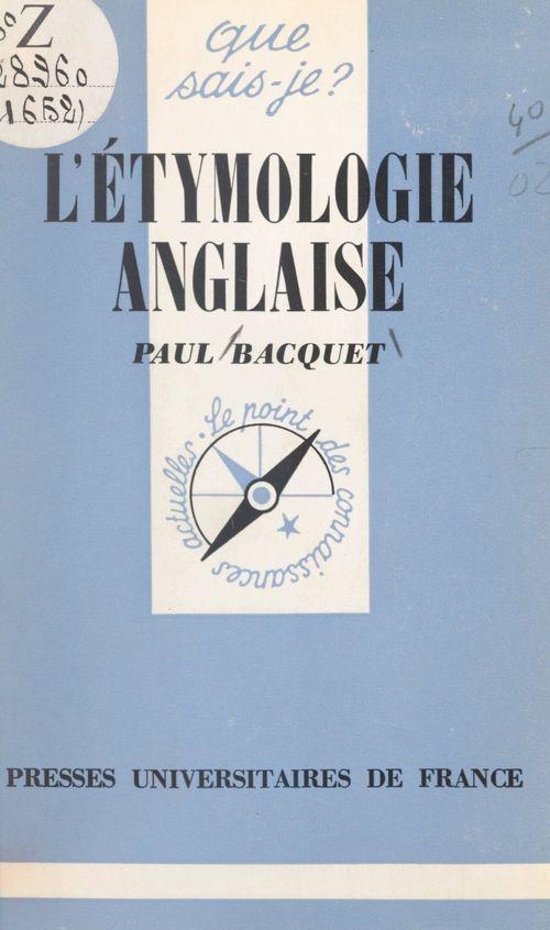 L'étymologie anglaise