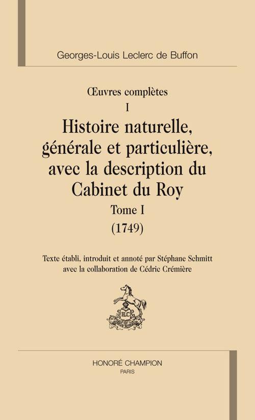 Oeuvres complète t.1; histoire naturelle t.1