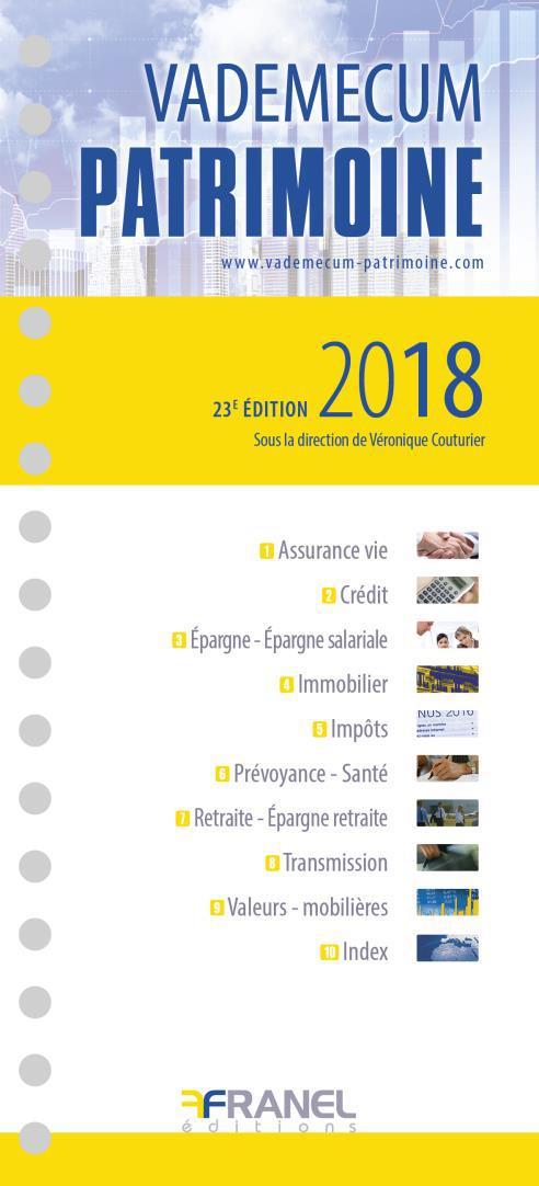 Vademecum ; patrimoine (édition 2018)