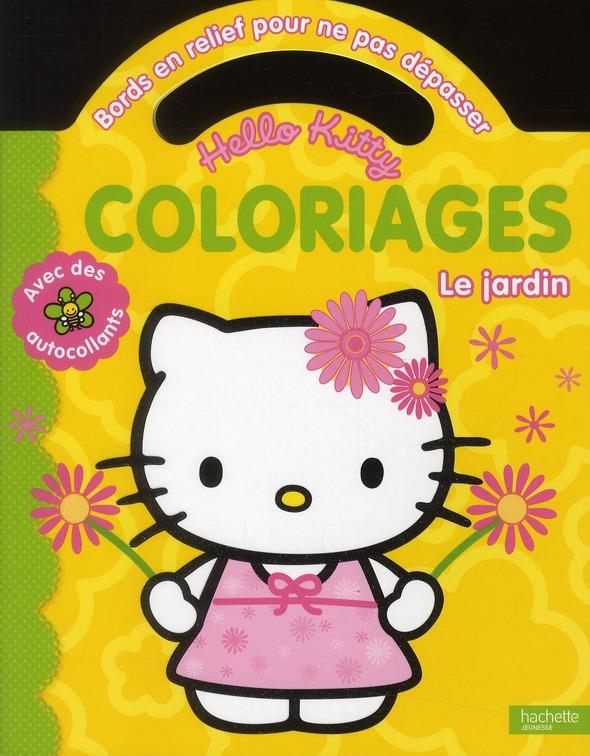 Hello Kitty ; Coloriages Pour Ne Pas Depasser ; Le Jardin