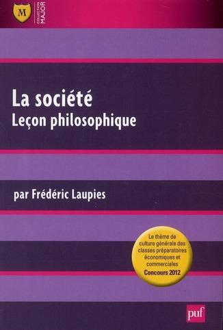 La Societe ; Lecon Philosophique