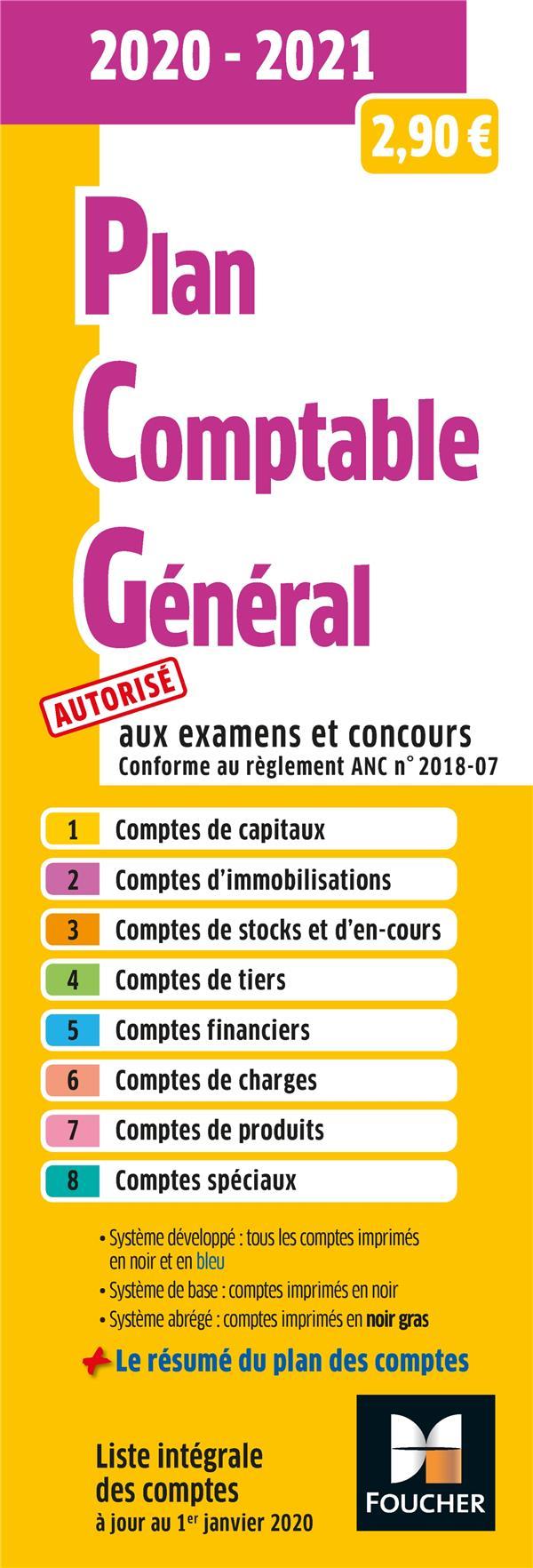 Plan comptable général ; PCG (édition 2020/2021)