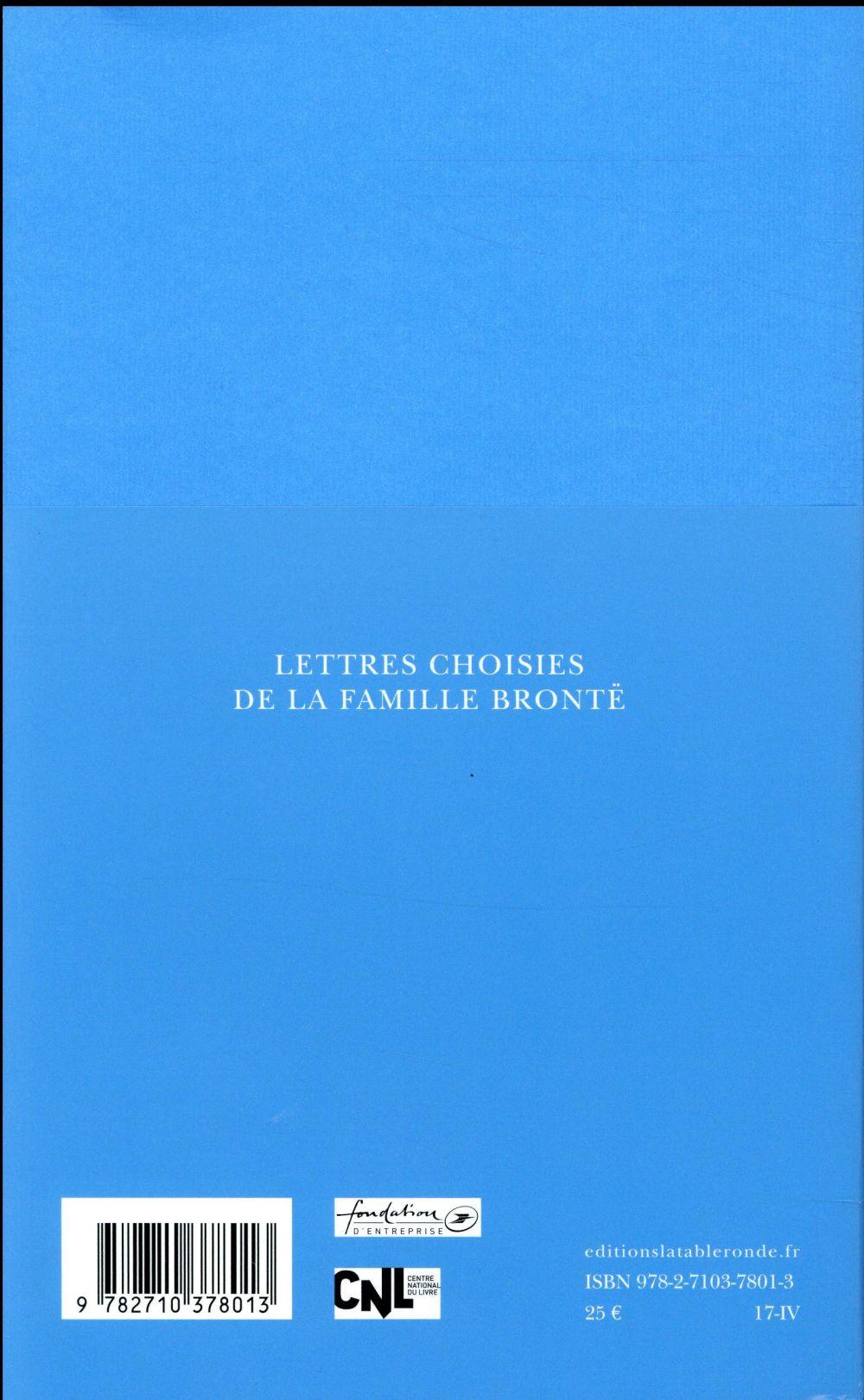 Lettres choisies de la famille Bronté ; 1821-1855