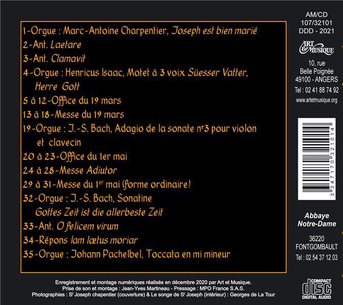 Saint Joseph ; chants grégoriens de l'abbaye de Fontgombault