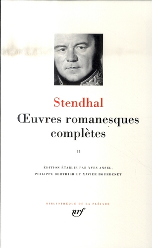 STENDHAL - OEUVRES ROMANESQUES COMPLETES T.2