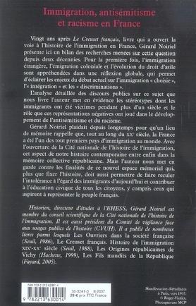 Immigration, antisémitisme et racisme en france (XIX-XX siècle) ; discours publics, humiliations privées