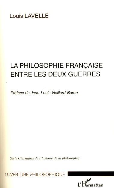 La philosophie française entre les deux guerres