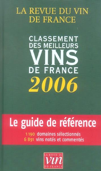Classement des meilleurs vins de france 2006