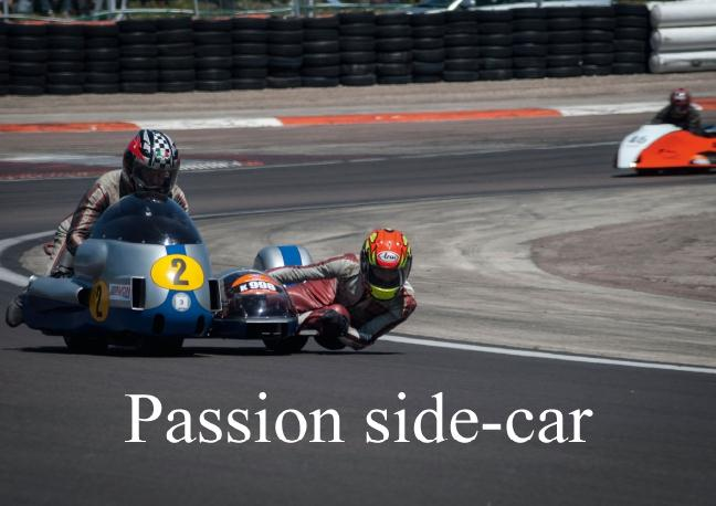 Passion side-car livre poster din A3 horizontal