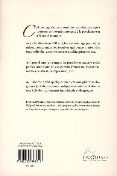 dictionnaire de la psychiatrie (édition 2011)
