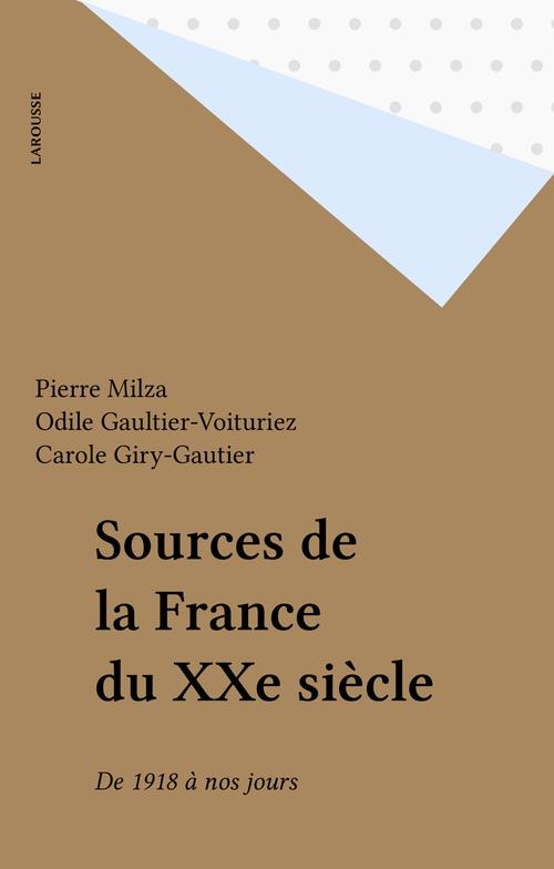 Sources de la France du XXe siècle