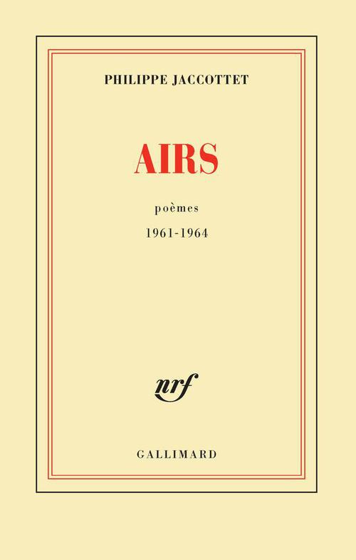 airs (poèmes 1961-1964)