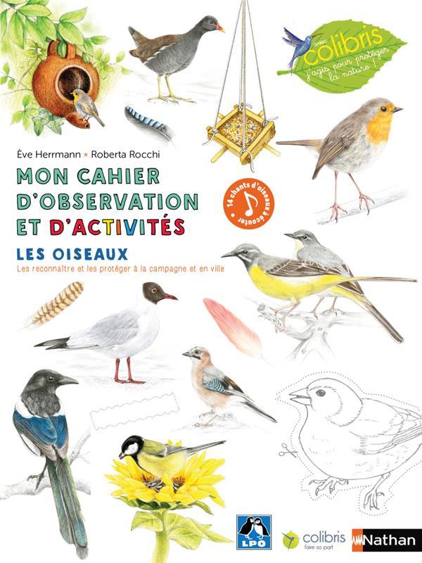 Mon cahier d'observation et d'activités ; cahier activités ; oiseaux