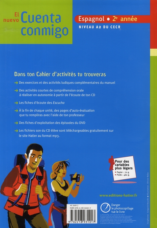 EL NUEVO CUENTA CONMIGO ; espagnol ; 2e année ; livre de l'élève + CD audio élève (édition 2008)