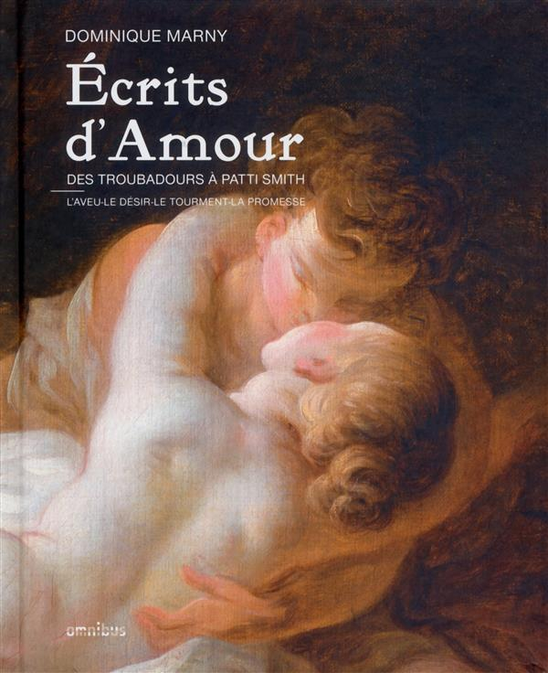 écrits d'amour ; des troubadours à patti smith