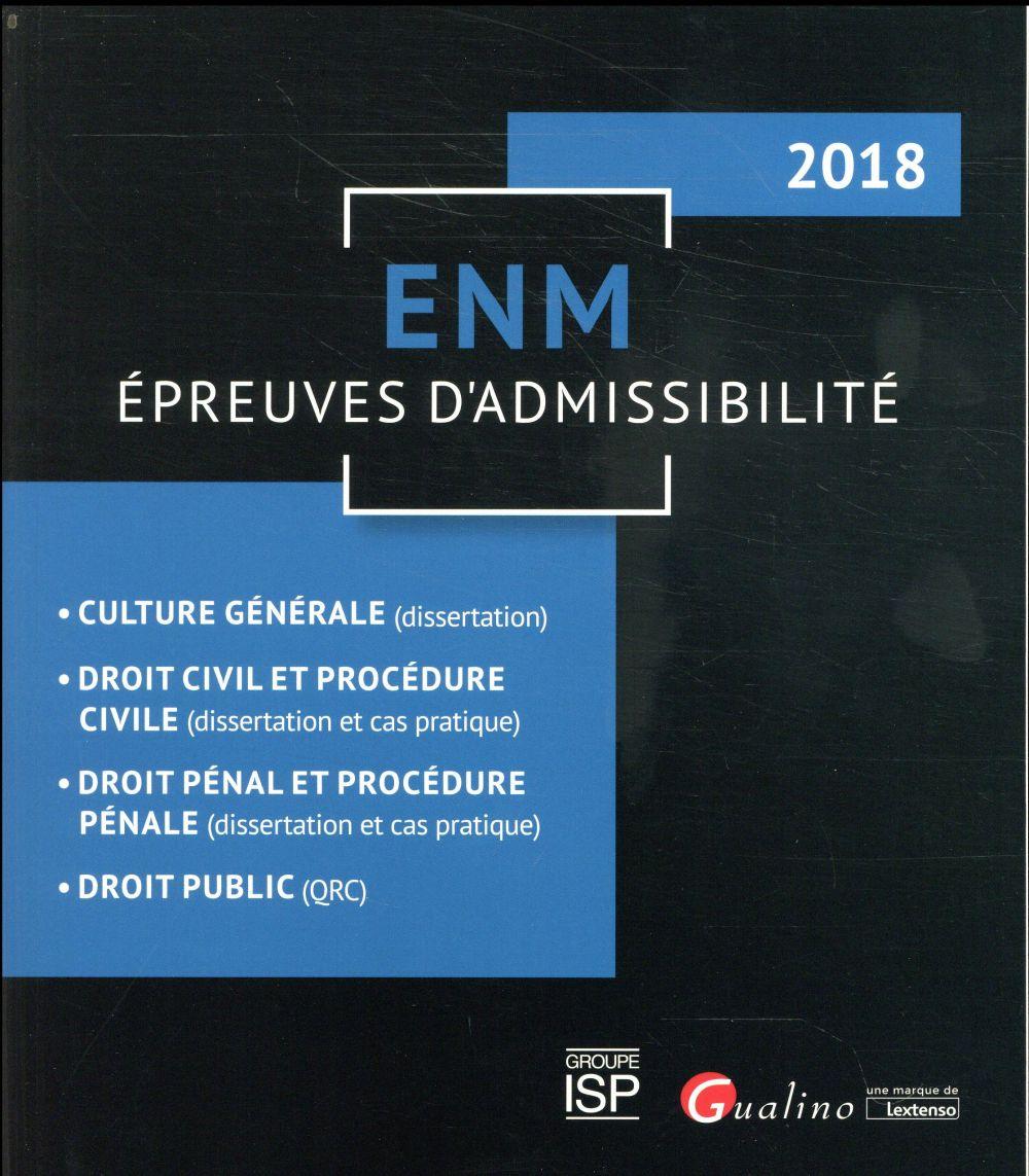 ENM ; épreuves d'admissibilité