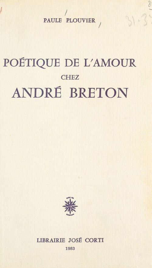 Poetique de l'amour chez andre breton