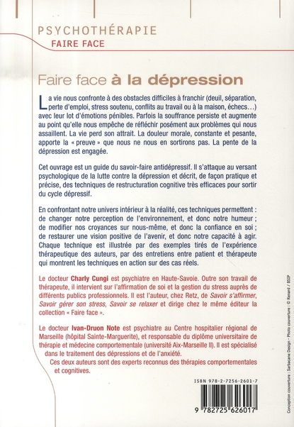 FAIRE FACE ; à  la dépression