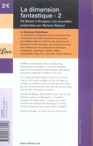 la dimension fantastique t.2 ; de Balzac à Sturgeon, 6 nouvelles