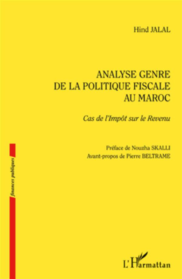Analyse Genre De La Politique Fiscale Au Maroc, Cas De L'Impot Sur Le Revenu
