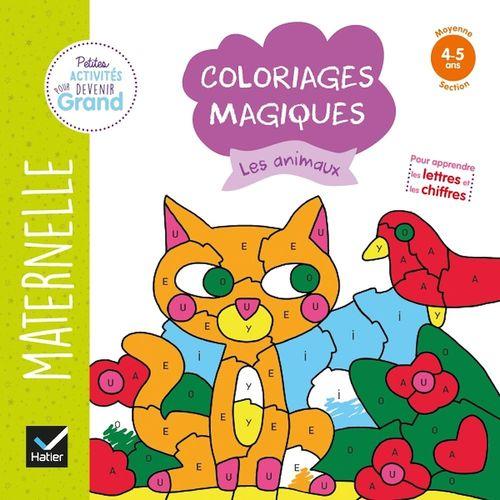 Coloriages magiques ; les animaux ; MS