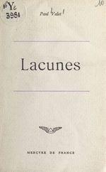 Vente EBooks : Lacunes  - Paul Valet
