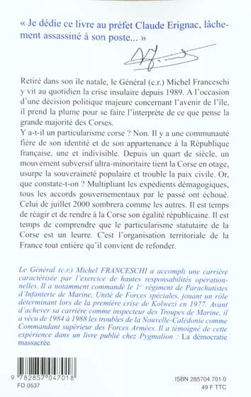 Corse ; la voix de la majorité silencieuse