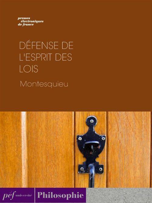 Défense de l'esprit des lois