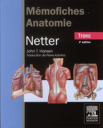 Mémofiches anatomie Netter ; tronc (3e édition)