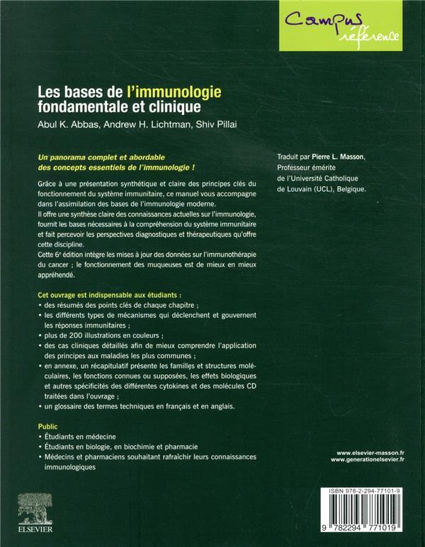 Les bases de l'immunologie fondamentale et clinique (6e édition)