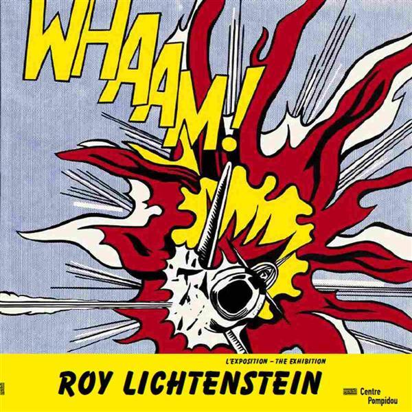 - ROY LICHTENSTEIN - ALBUM DE L'EXPOSITION (BILINGUE ANGLAIS  FRANCAIS).