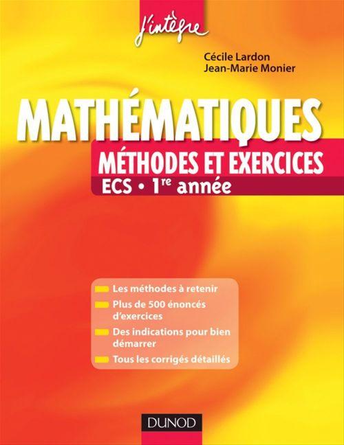 Mathématiques ; ECS 1ère année ; méthodes et exercices
