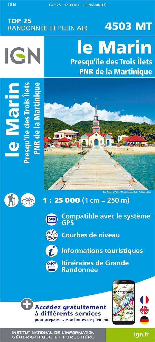 4503MT ; le Marin, presqu'île des Trois, îlets PNR de Martinique (3e édition)