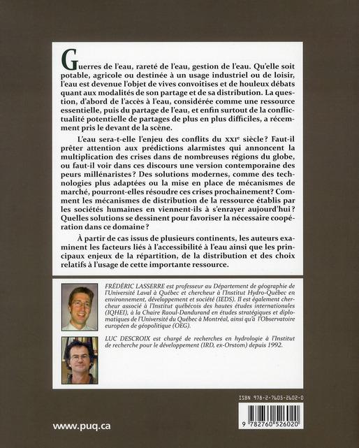 eaux et territoires ; tensions, coopérations et géopolitique de l'eau (3e édition)