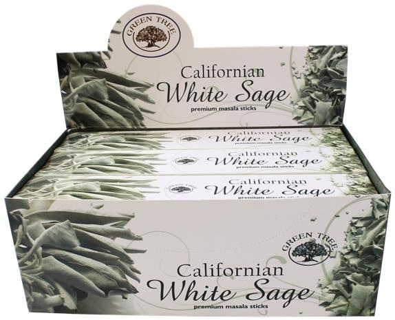 Encens green white sage 15 grammes - lot de 12