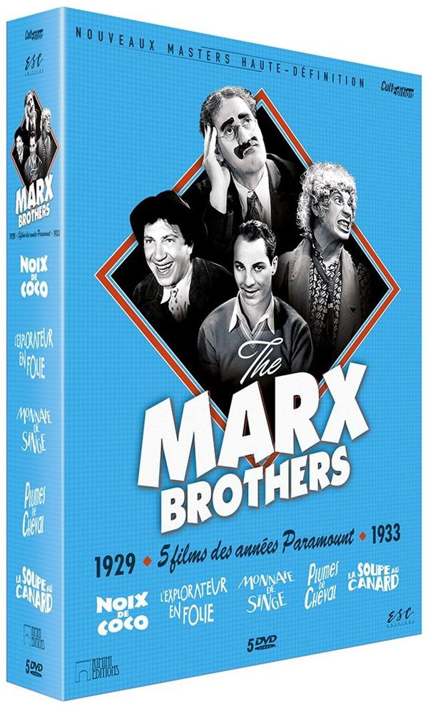 coffret Marx brothers 5 films