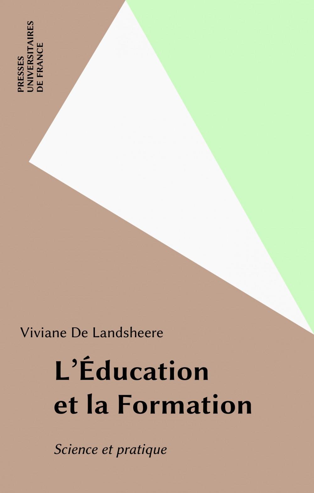 Education et la formation (l')